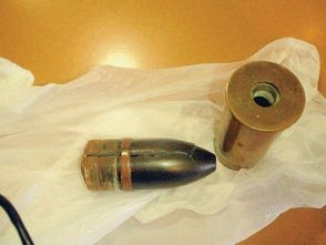 The German WWI ammunition presented at Hillarys Police Station.