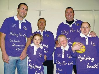 Debbie's Dropouts team members (back, from left) Troy Houston, Paul Elliott and Brian Gillespie with (front) Oriana Houston, Jack Gillespie and Earl Lambert.