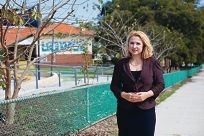 Perth MLA Eleni Evangel at Mt Hawthorn PS.