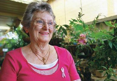 Pink Ribbon Appeal volunteer co-ordinator Margaret Hicks. Picture: Elle Borgward d407530