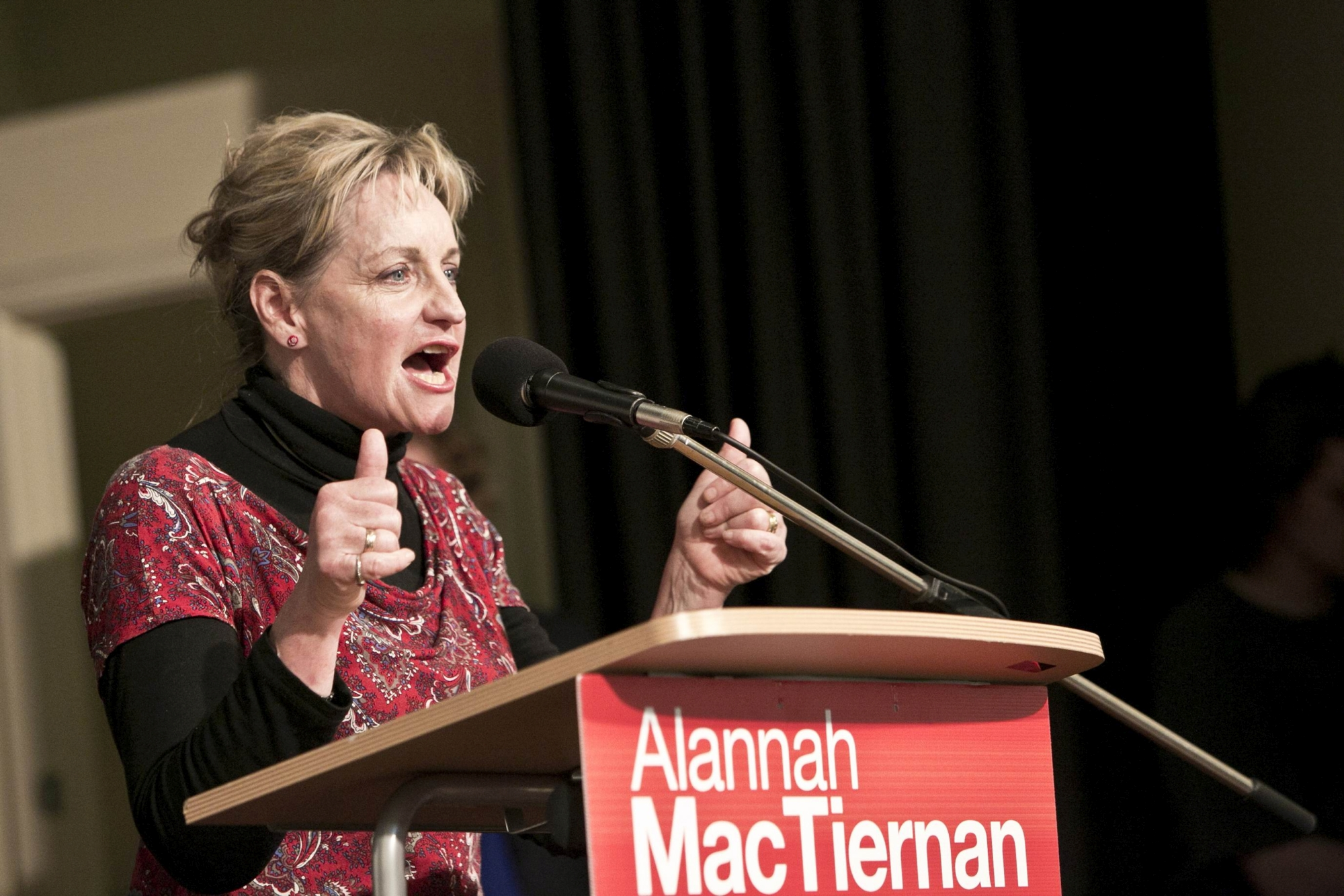 Alannah MacTiernan celebrates a successful Federal Election campaign. Picture: Louise White www.communitypix.com.au d407486