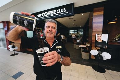 Terry Rayson has opened a new Coffee Club franchise at Floreat Forum.