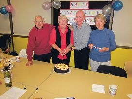 Members Peter Holland, Lyn Gosling, president Trevor Hook and Jean Ryan.