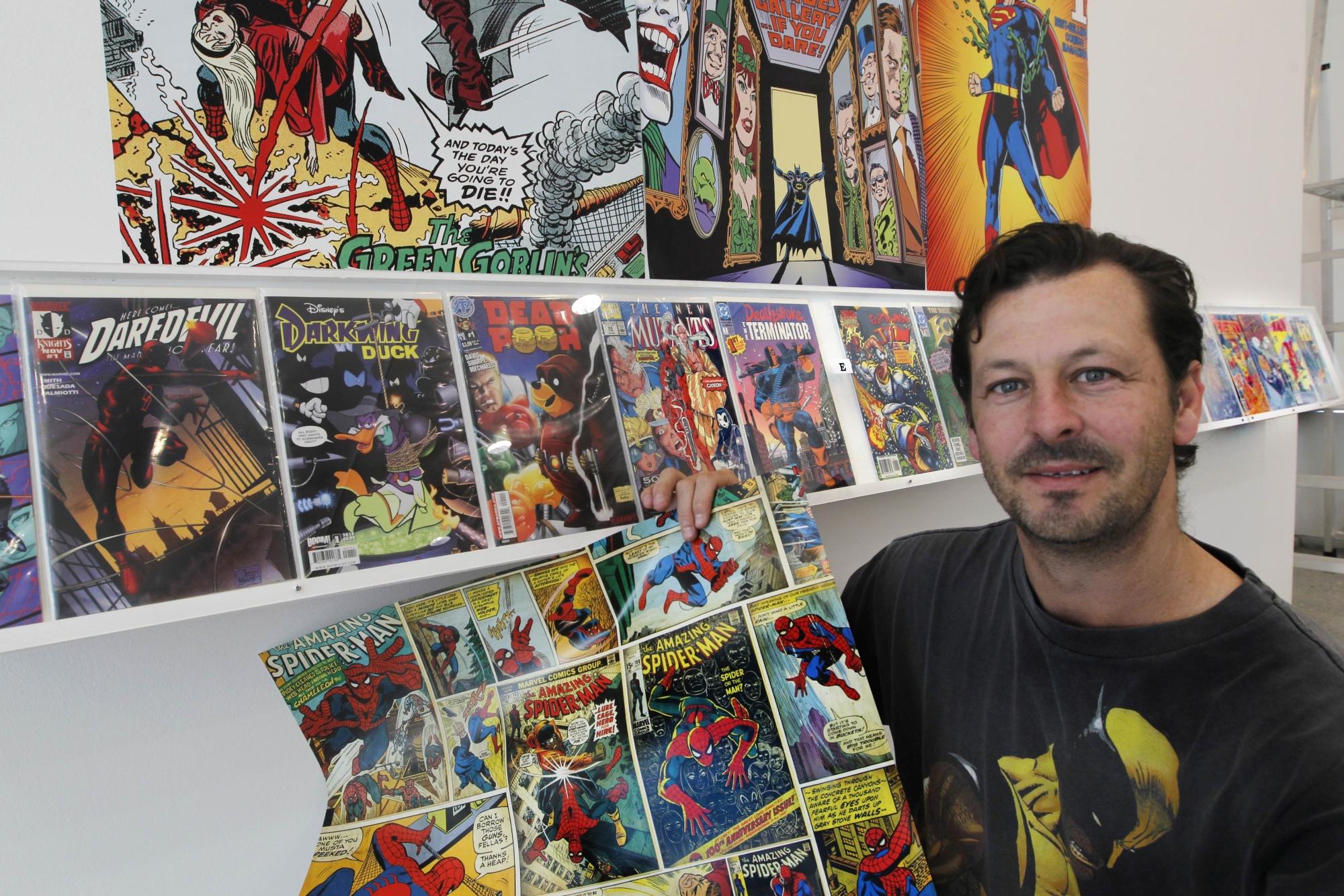 Brett Chilman, aka the 'Comic Guy'. Picture: Bruce Hunt d407164