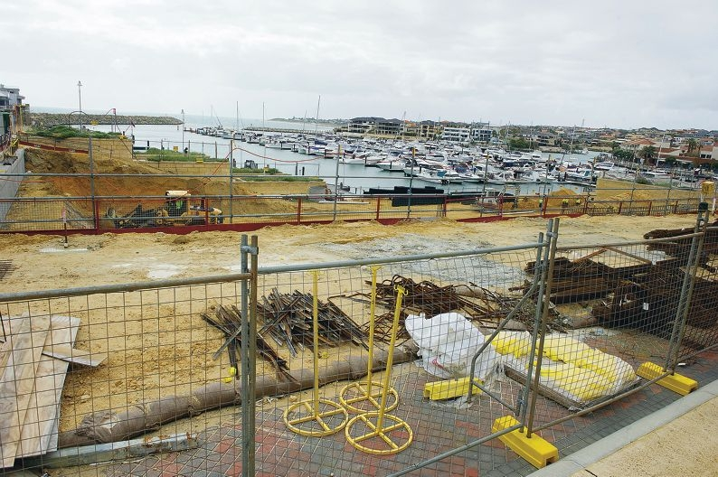 The site of a planned multi-storey apartment building. Picture: Emma Reeves d407731
