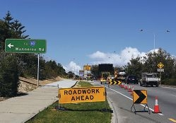 Construction on a new turning lane is taking longer than planned in Merriwa. Picture: Matt Jelonek d406999