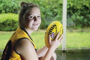 Hannah Bebbington is keen to pursue a future career in women's AFL. Picture: Emma Reeves www.communitypix.com.au d407074