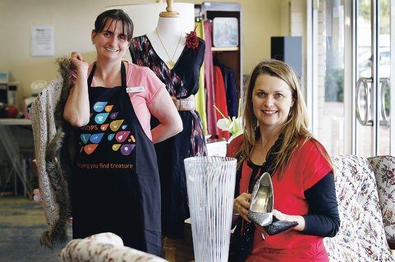 Maddington Anglicare op shop staff member Sam Lange and |manager Anna Presser have plenty of bargains in store.