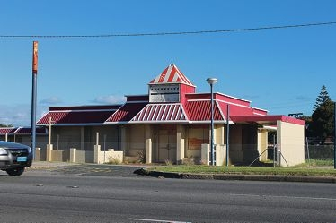 The KFC building on Patterson Road.