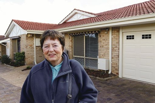 Audrey Boon is pleased with her move to a unit after living on a far bigger block for many years.
