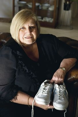 Marilyn Brennan is ready for the Parkinson's Unity walk on Sunday. Picture: Emma Reeves www.communitypix.com.au d406710