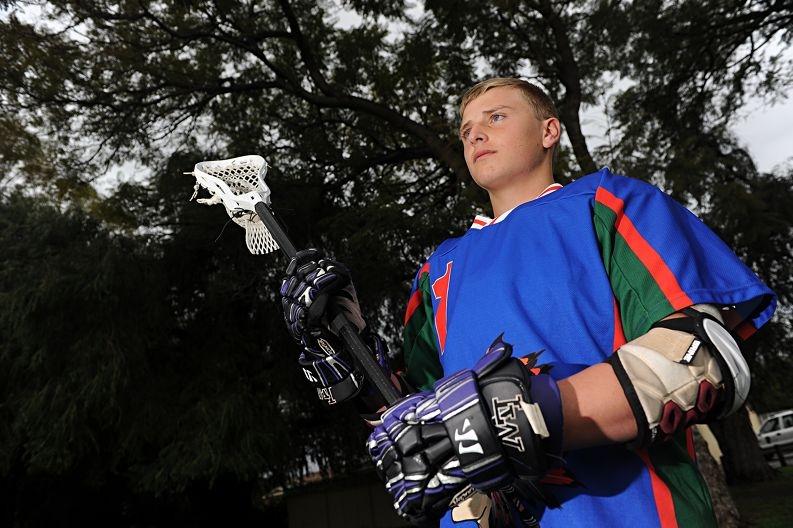 Lacrosse champion Jayden Game. Picture: Marcus Whisson www.communitypix.com.au d406459