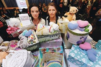 Project Heal memory box organiser Carly Dudley and KEMH perinatal loss co-ordinator Belinda Jennings. Picture: Marcus Whisson d405957