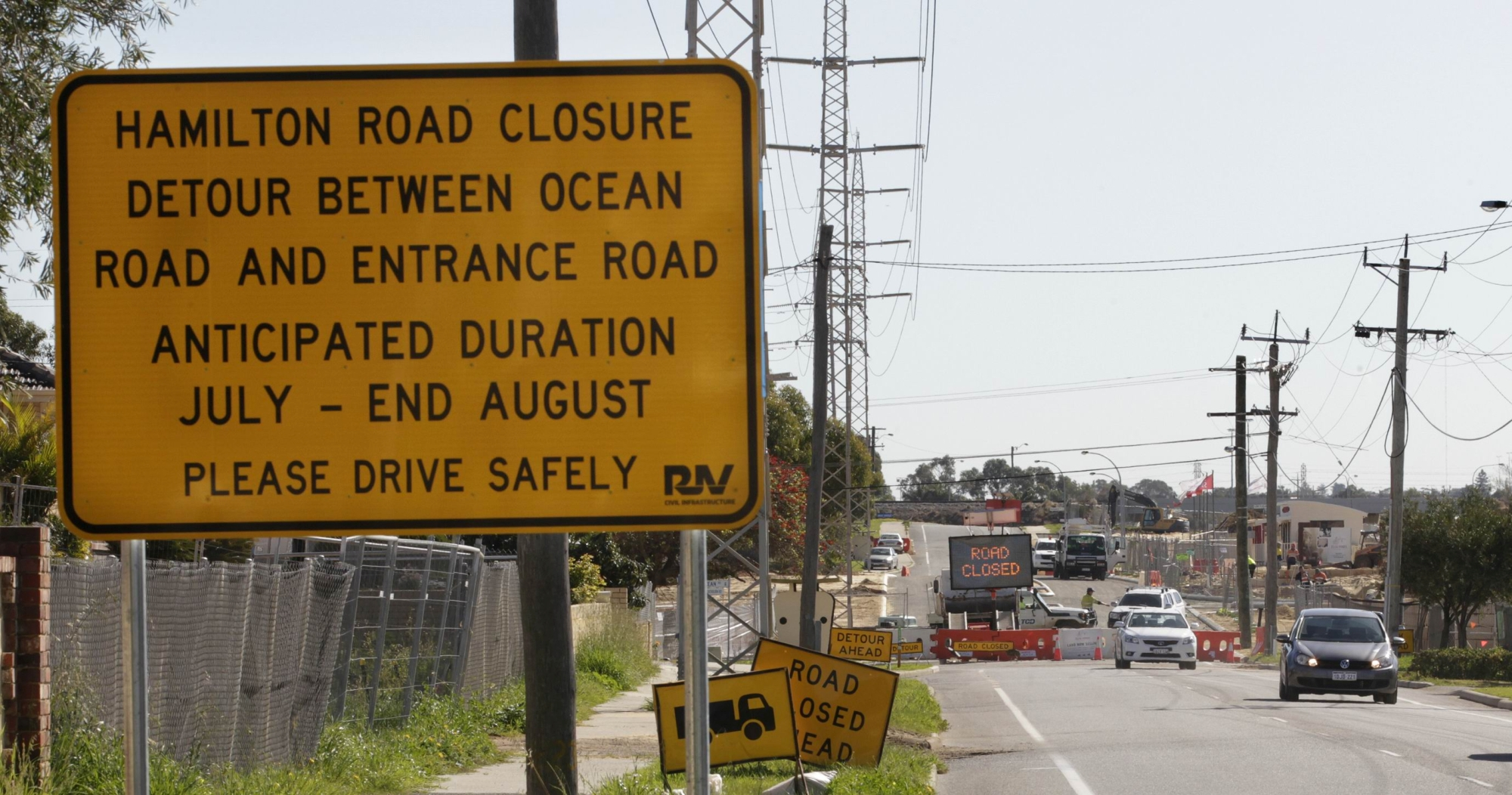 Earlier notice would have helped: the sign informing motorists of the detour.