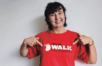 Linda Barclay is walking to help others Picture: Elle Borgwardd406048