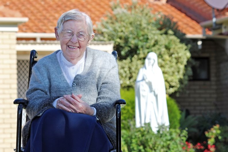 Sister Scholastica at her home in Craigie. Picture: Justin Bianchini