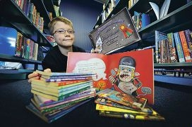 Warnbro Primary School student David Mansfield created an award-winning picture book. Picture: Jon Hewson d406077