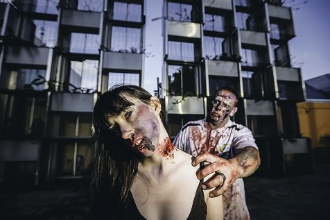 Vanessa Gudgeon and Steve Cheesman are taking part in the Perth Zombie Walk for brain injuries. Picture: Andrew Ritchie d406718