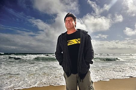 Creator of website swellsup.com, Peter Jovic, in his element at South Trigg Beach. Picture: Marcus Whisson d405862