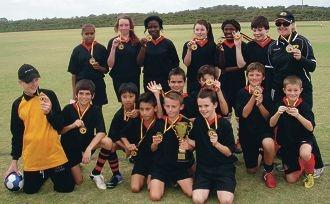 Leda Primary's winning team.