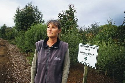 Landcare project officer Tracy Evans at the Bowra and O'Dea Memorial Groves in Beckenham. Picture: David Baylisd405965