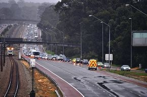 The resulting traffic from Wednesday's crash caused major delays on the Mitchell Freeway.