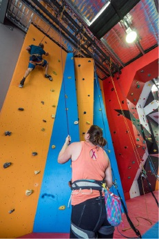 Locals and visitors alike enjoy the new facilities at Mandurah Indoor Rock Climbing Centre.