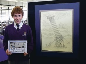 Pencil drawing earns prize