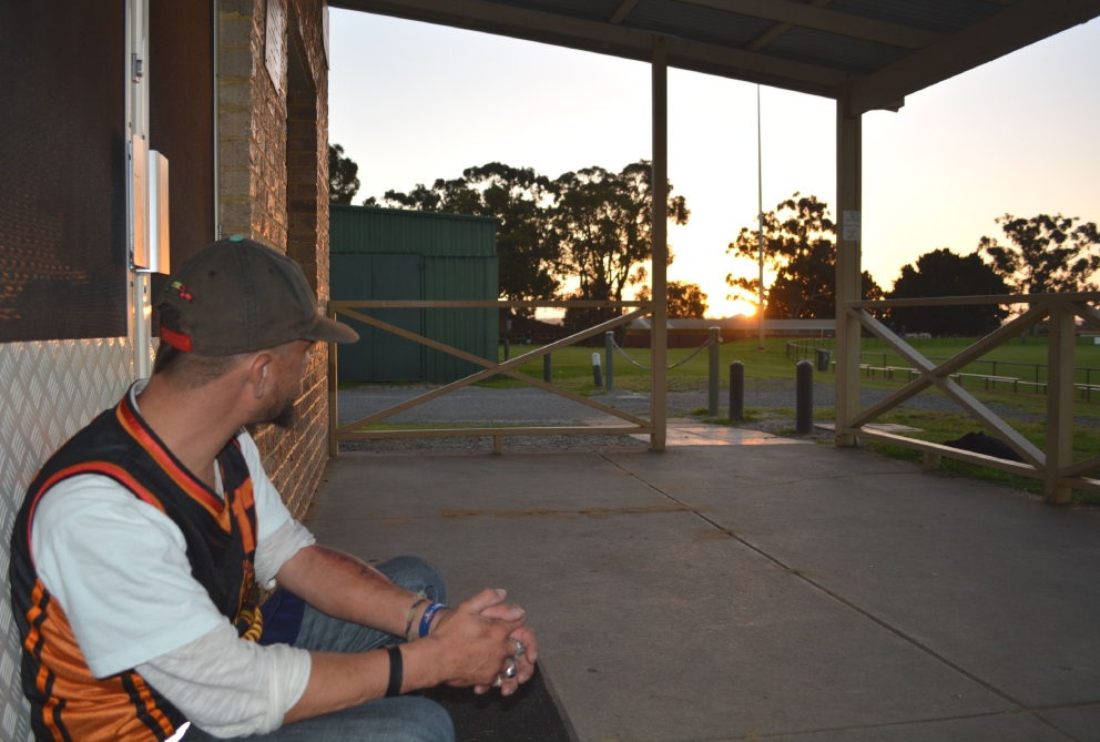 Homeless person Todd believes it's safer to sleep rough in Osborne Park than in the Perth CBD. Picture: Kate Leaver
