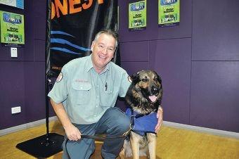 Charlie Smith with ranger dog Bob.
