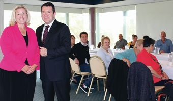 Liberal candidate for Brand Donna Gordin and Senator Dean Smith met with grandparents in the Peel region recently.