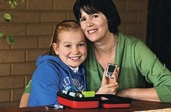 Carys Wells with her mum, Claudia Wells. Picture: Elle Borgward d405388