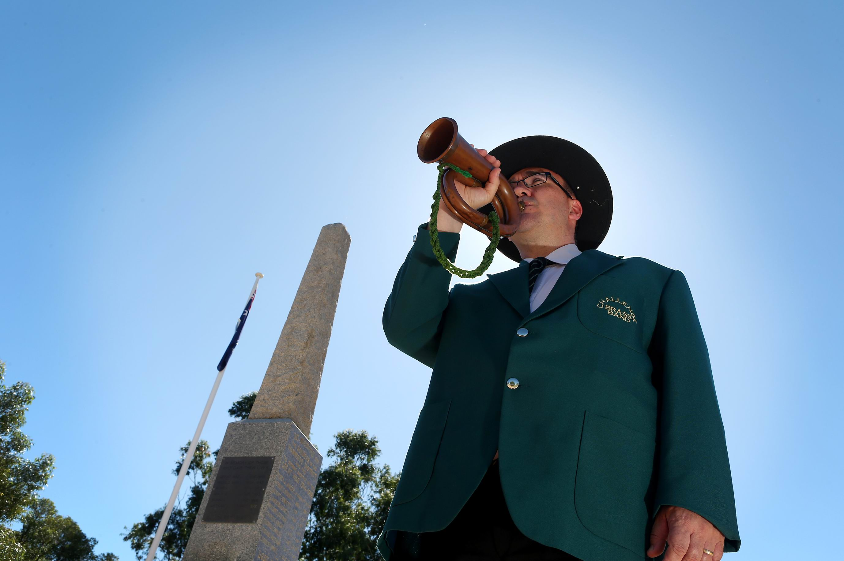 Ricky Wileman from the Challenge Brass Band will be playing a 100-year-old bugle that was used in WWI to sound Last Post at Saturday's Anzac service in Wanneroo