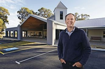 Pastor Stephen Hart wants local people to share in the church's special occasion to mark the opening of its distinctive building. Picture: Elle Borgward www.communitypix.com.au d402238