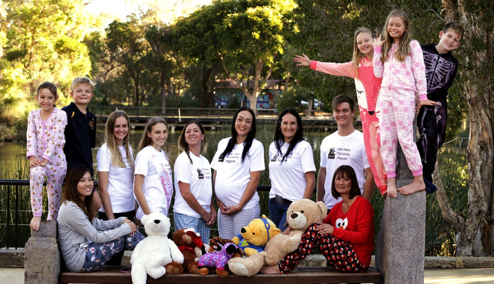 Members and supporters of Kidzucate, an anti-bullying charity that is holding a picnic this month to support the Women's Council for Domestic and Family Violence.