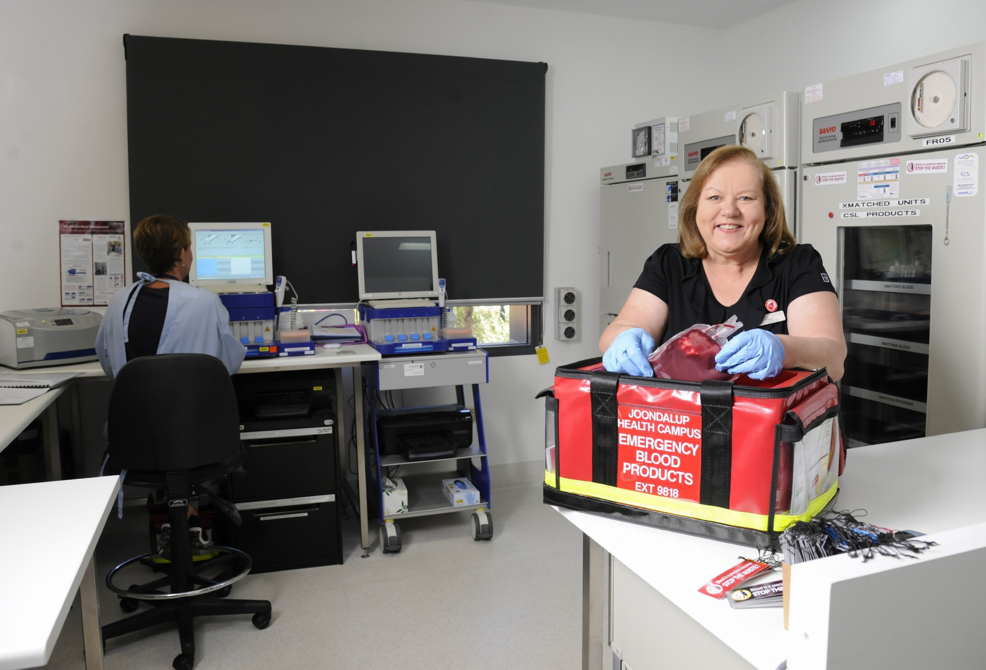 Nurse of the Year Angie Monk won the award for her breakthrough blood management program.