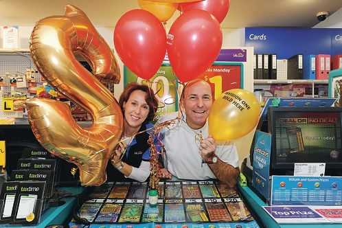 The Downs Chemmart Pharmacy and News owners Janine and Henry Gulev.