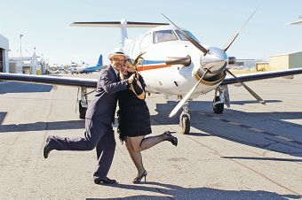 Captain Michael Bleus and flight nurse Susan Greyling get into the swing of the 1920s.