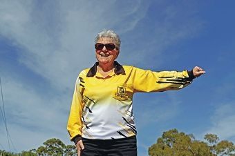 Umpire Wendy Oliver in action. Picture: Martin Kennealey www.communitypix.com.au d404113