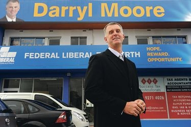 Liberal candidate for Perth Darryl Moore.