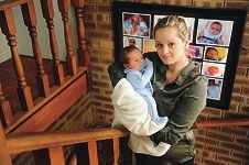 Christine Beezley with her newborn son Braydon Rodgers.