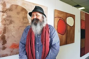Talented artist Lindsay Harris, whose works are on display in Joondalup. Picture: Marcus Whisson d396332