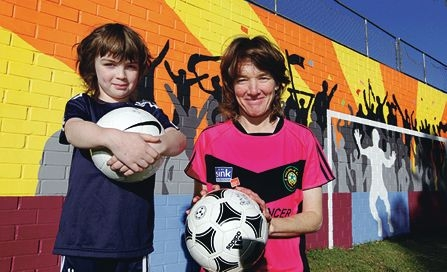 Penny Tanner and daughter Rose will travel to Italy as Penny competes in the World Masters Games. Picture: Martin Kennealey www.communitypix.com.au d404496