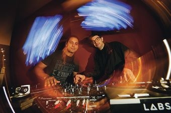 Zeke Ugle and Luke Chan have just opened a Perth DJ school. Picture: Andrew Ritchie d404163