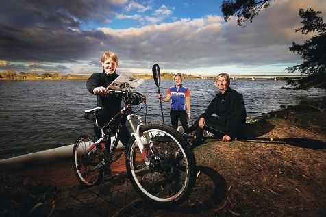 Lesa Muir, Belinda Brooks and Janet Musker are set for a big adventure.