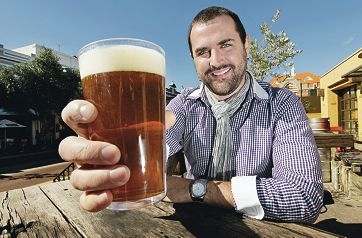 The Monk Brewery and Kitchen business operations manager Jonathan Kunz says November's Beer and Cider Festival is a good fit for the city. Picture: Elle Borgward www.communitypix.com.au d404794