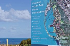 The site of the proposed Ocean Reef Marina.