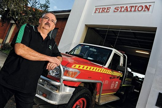 Bassendean Volunteer Fire and Rescue Service captain Mike Smith. Picture: Marcus Whisson d404708