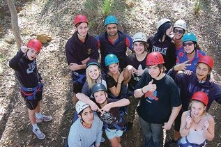 Young people on the Stepping Stones program.