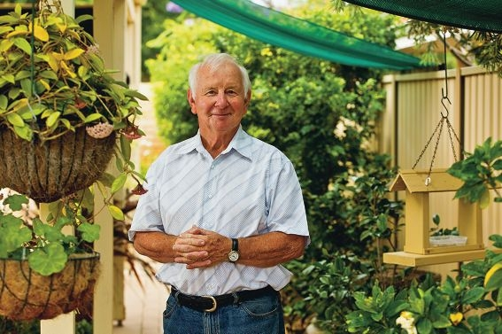 Sam Hume won the prizefor best garden in Canning Vale last year. Picture: Matthew Poon